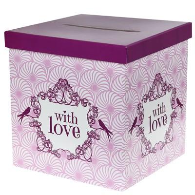 Kartenbox With Love rosa