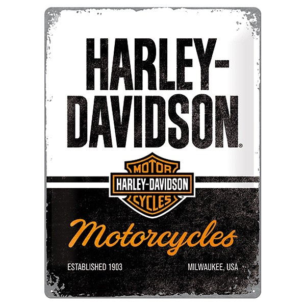 Blechschild Harley-Davidson Motorcycles