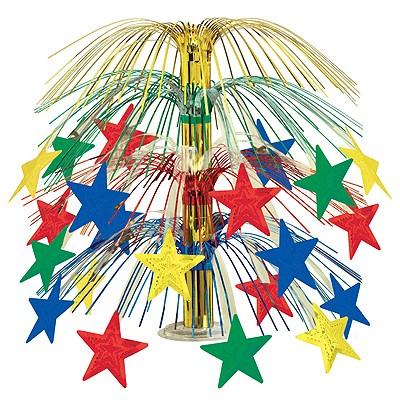 Tischaufsteller Sterne bunt