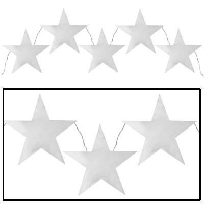 Partydeko Stern-Girlande silber metallic