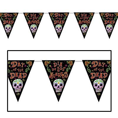 Wimpelgirlande Dia de los Muertos