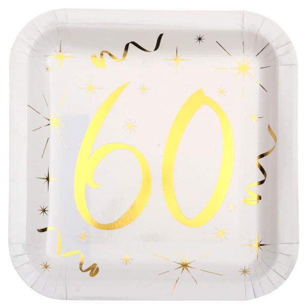 Partyteller 60. Geburtstag gold