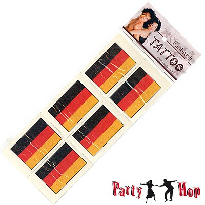 Deutschland Fantattoo Flagge