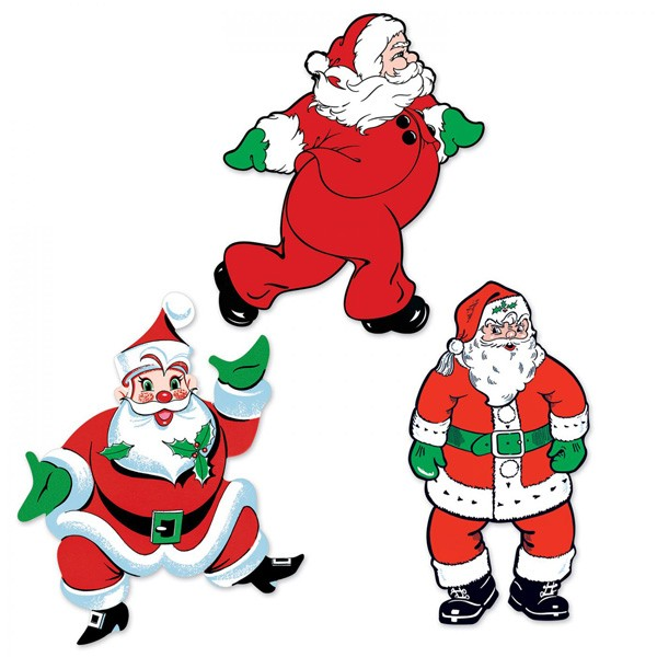 Vintage Weihnachtsmänner 3-teilig