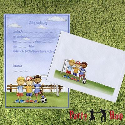 Einladungsset Fußball Kinder