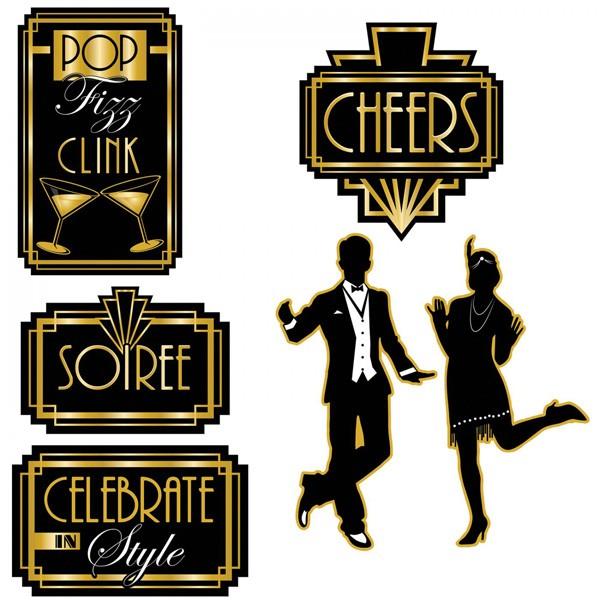 20er Jahre Partydeko-Schilder