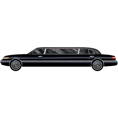 partydeko stretch limousine f r hollywood vip mottoparty. Black Bedroom Furniture Sets. Home Design Ideas