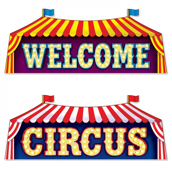 Dekoschilder Circus Welcome