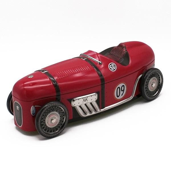 Dekoblechdose 30er Jahre Rennwagen rot