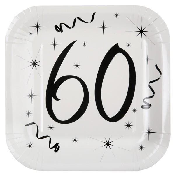 Pappteller 60. Geburtstag
